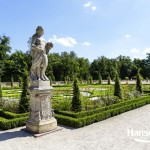 WARSAW, POLAND - AUGUST 20, 2014: Garden Sculpture in the Wilanow park created in the 2nd half of the 17th century together with the Royal Palace built for King Jan III Sobieski